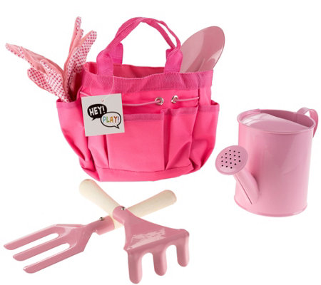 Hey! Play! Kids' Garden Tool Set with Canvas Tote