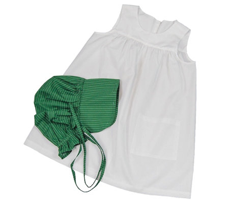 The Queen's Treasures Little House Child-SizedApron/Bonnet