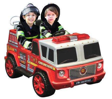 12V Two Seater Ride-on Fire Engine