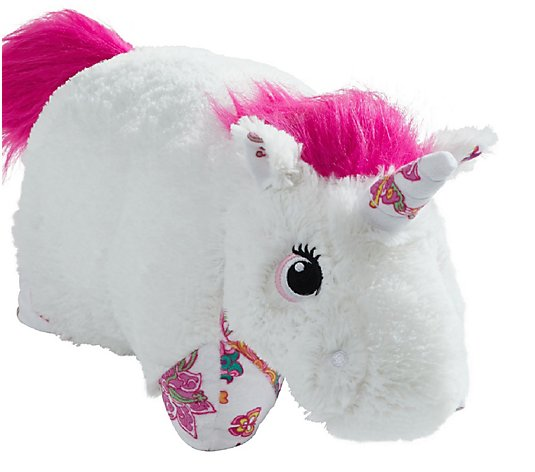 Pillow Pets Colorful White Unicorn