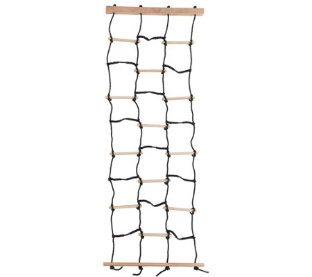 Hey! Play! Climbing Net With Nylon Rope & Wooden Dowels