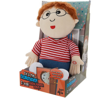 It S Me Norman Interactive Knock Knock Doll With 50 Jokes Qvc Com