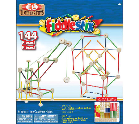 Ideal Classic Fiddlestix 144-Piece Wood C onnector Set