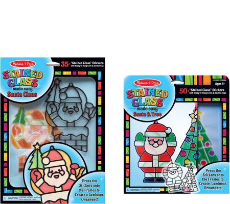 Melissa & Doug Let's Play Holiday Stained GlassBundle