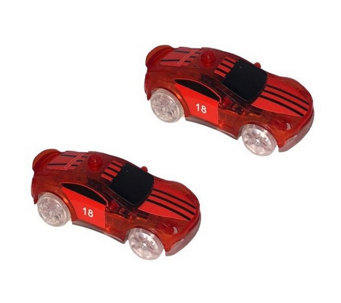 Twister Tracks Set of Two Micro Series Add-on LED Cars - T129457 RC Toys \u2014 Remote Control Toys, \u0026 More QVC.com