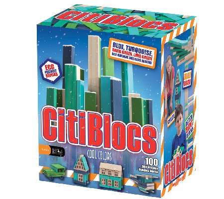 CitiBlocs 100-Piece Cool-Colored Building Block