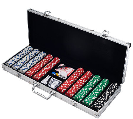 500 Dice-Style Casino-Weight Poker Chip Set