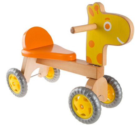 Hey! Play! Walk & Ride Wooden Giraffe Balance Bike