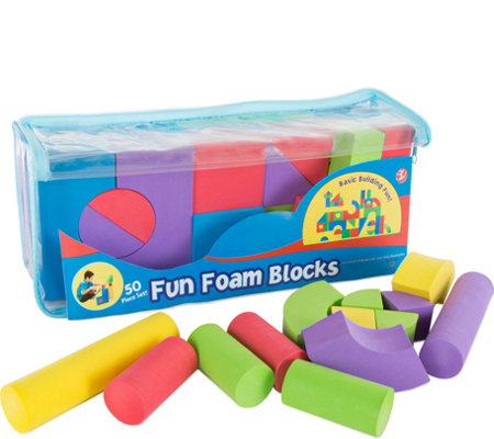 Hey! Play! 50-Piece Non-Toxic EVA Foam BuildingBlocks