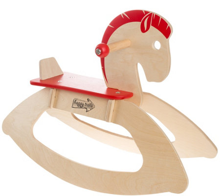 Hey Play Rocking Horse Classic Wooden Rocker