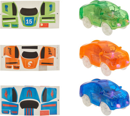 Twister Trax Set of 3 LED Cars