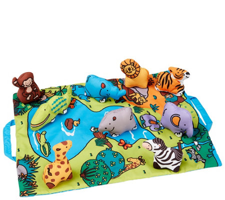 Melissa Doug Take Along Wild Safari Play Mat