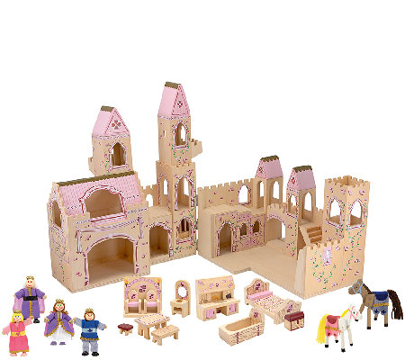 Melissa & Doug Folding 19-Piece Princess CastleSet