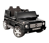 Black Mercedes Benz G55 AMG Two Seater Ride-OnCar - T125467