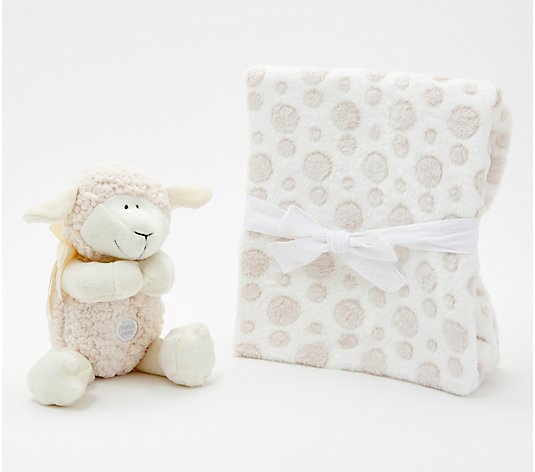 Jesus Loves Me Plush Praying Lamb with Blanket