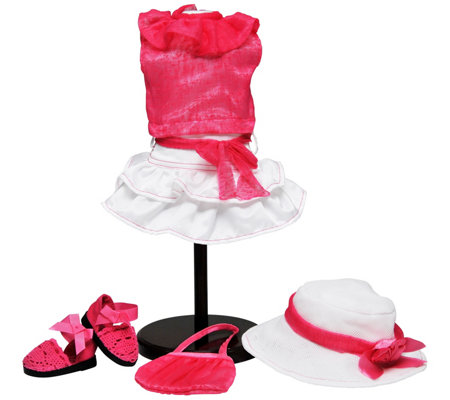 "The Queen's Treasures 18"" Doll Pink & White Complete Outfit"