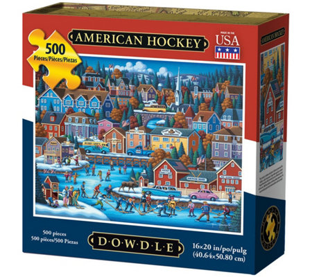 Dowdle American Hockey 500 Piece Jigsaw Puzzle