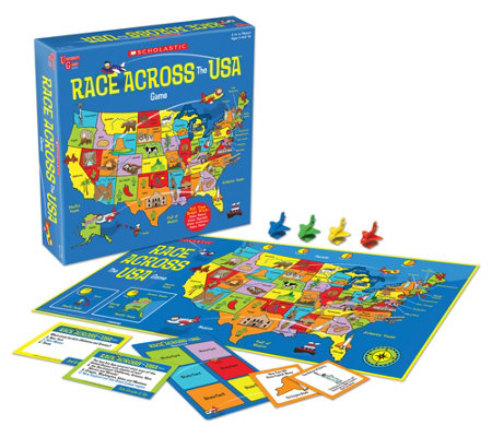 University Games Scholastic Race Across The Usa Kids Game