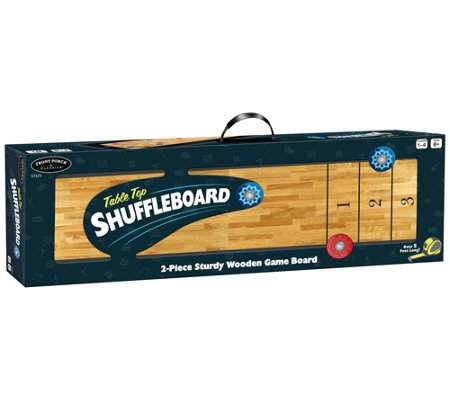 Front Porch Classics Tabletop Shuffleboard Action Game