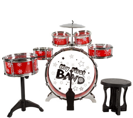 Hey! Play! 7-Piece Toy Drum Set