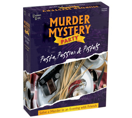 University Games Murder Mystery Party Pasta Passion Pistol