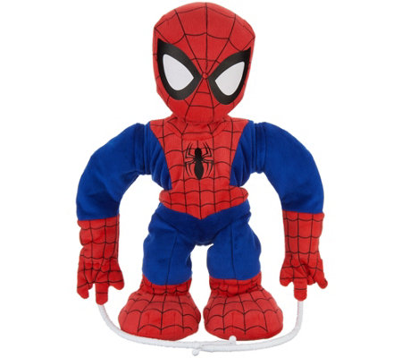 "Spiderman Swing & Sling 15.5"" Talking Plush Toy"