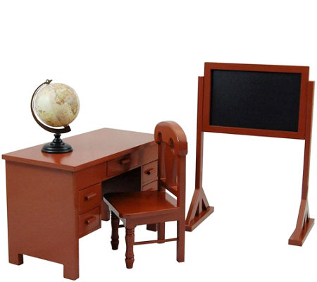 "The Queen's Treasures 18"" Doll School Teacher Desk Set"