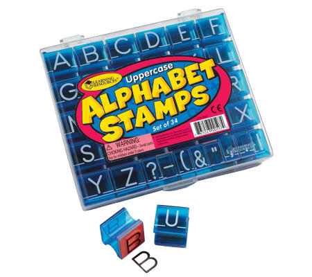 Uppercase Alphabet & Punctuation Stamps  by Learning Resource