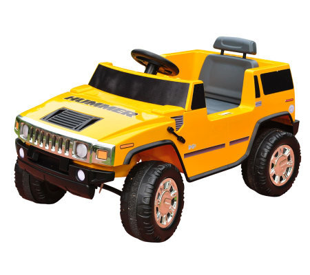 6V Yellow Hummer Battery Operated Ride-On