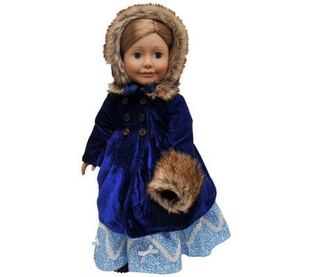 The Queen S Treasures 18 Doll Blue Velvet 3 Piece Coat Outfi