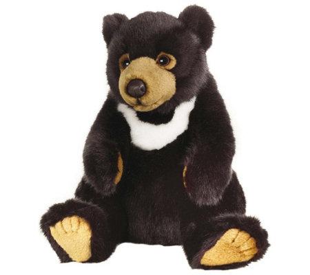 Lelly National Geographic Black Bear Plush