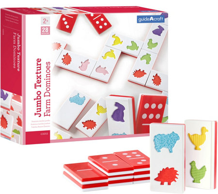 Guidecraft Jumbo Texture Farm Dominoes