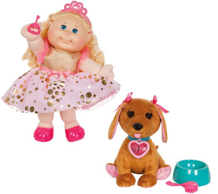 "Cabbage Patch Kids 35th Anniversary 14"" Doll with Adoptimals Pet"