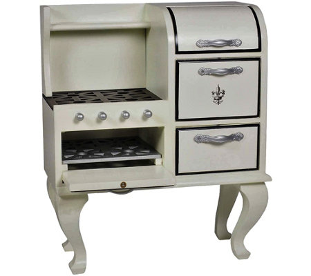 "The Queen's Treasures 18"" Doll Vintage Wooden Stove & Oven"