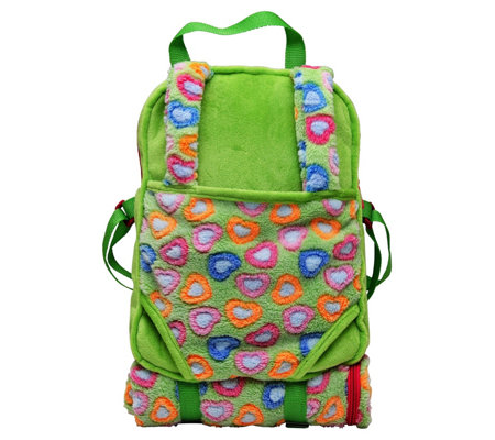 The Queen's Treasures Green Childs Backpack with Doll Carrier