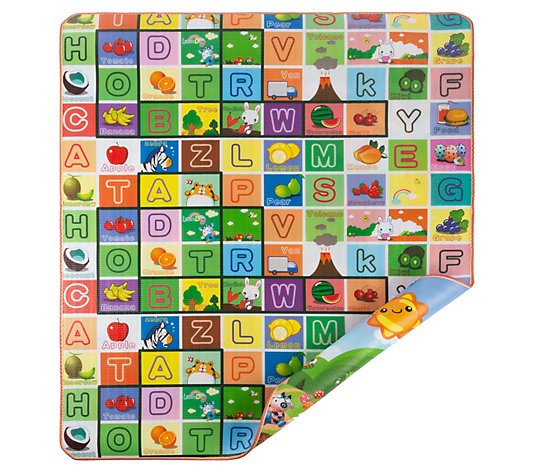 Hey! Play! Reversible Baby Play Mat with Alphabet and Animals