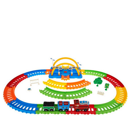 Neo Tracks 40-Piece Train Set with Flexible Train Track