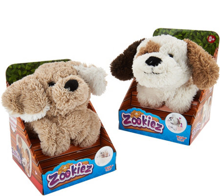 Zookiez Set of Two Wrap Around Plush Animal Friends