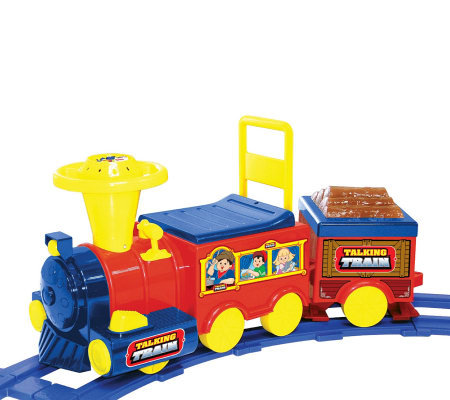 6V Talking Train with Track Battery-operated Ride On