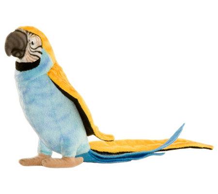Hansa 7 Parrot Blue And Yellow Plush