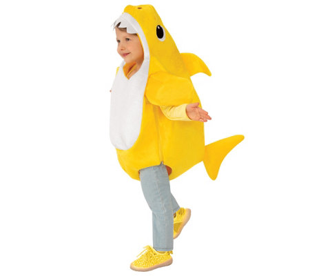 Baby Shark Childrens Costume with Sound Chip