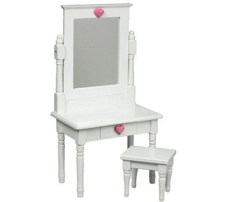 "The Queen's Treasures 18"" Doll Vanity Table Desk & Stool"