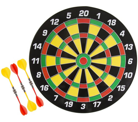 "Hey! Play! 16"" Magnetic Dart Board Set with SixDarts"