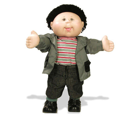 Cabbage Patch Kids Black Haired Boy In Shirt And Jacket Qvc Com