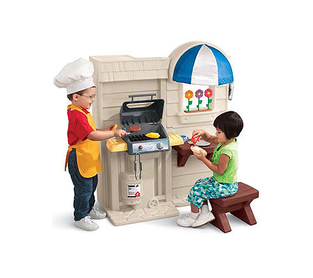Little Tikes Inside/Outside Cook 'n Grill Kitchen — QVC.com on