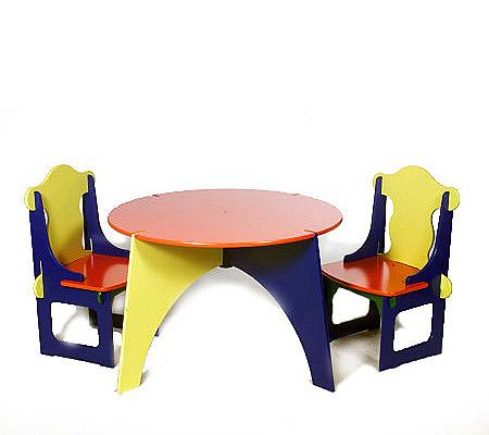 Kinder Play Table & 2 Chair Set — QVC.com