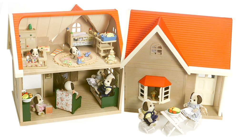 calico critters collection playset and orchard cottage qvc com rh qvc com calico critters cottage house calico critters cottage house