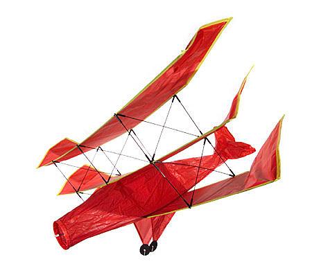 Red Baron 3 D Tri Plane Nylon Kite Qvc
