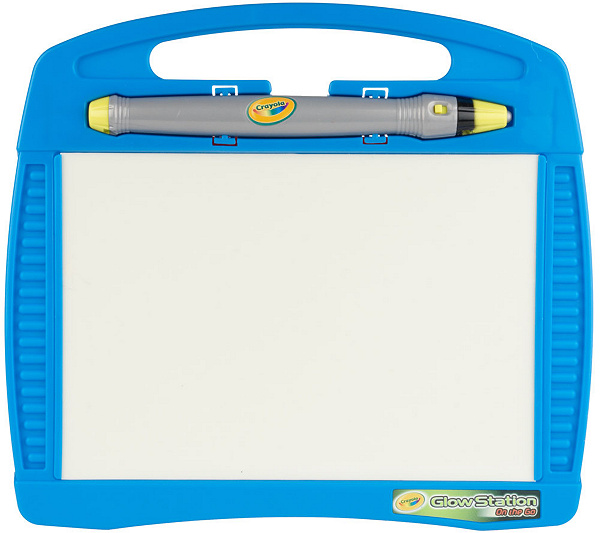crayola glow station on the go travel art desk w light wand page