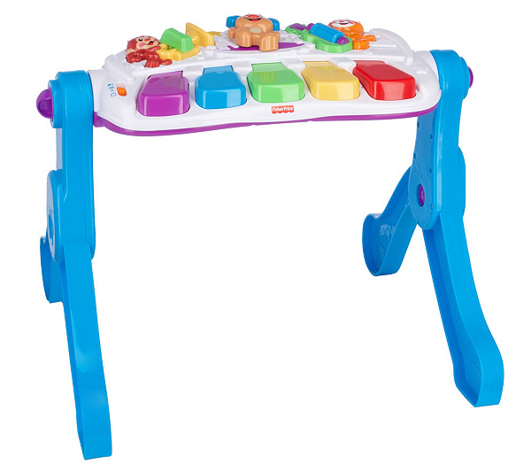 Fisher Price Learn Move Music Station Plug Play Keyboard Qvc